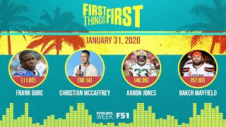 Frank Gore, Christian McCaffrey, Aaron Jones, Baker (1.31.20) | FIRST THINGS FIRST Audio Podcast
