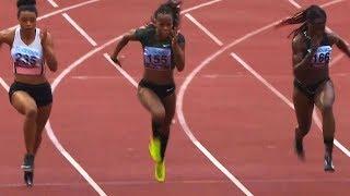 Women's 100m at Gothenburg GP 2018