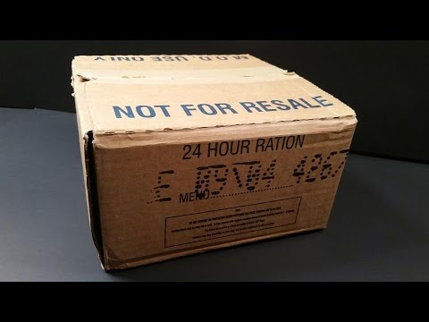 2004 British 24hr Operational Ration Pack MRE Review Curried