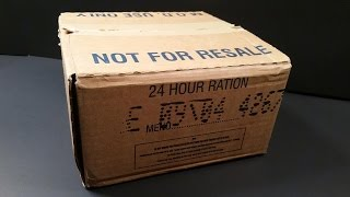2004 British 24hr Operational Ration Pack MRE Review Curried Lamb UK ORP Army Meal Tasting Test