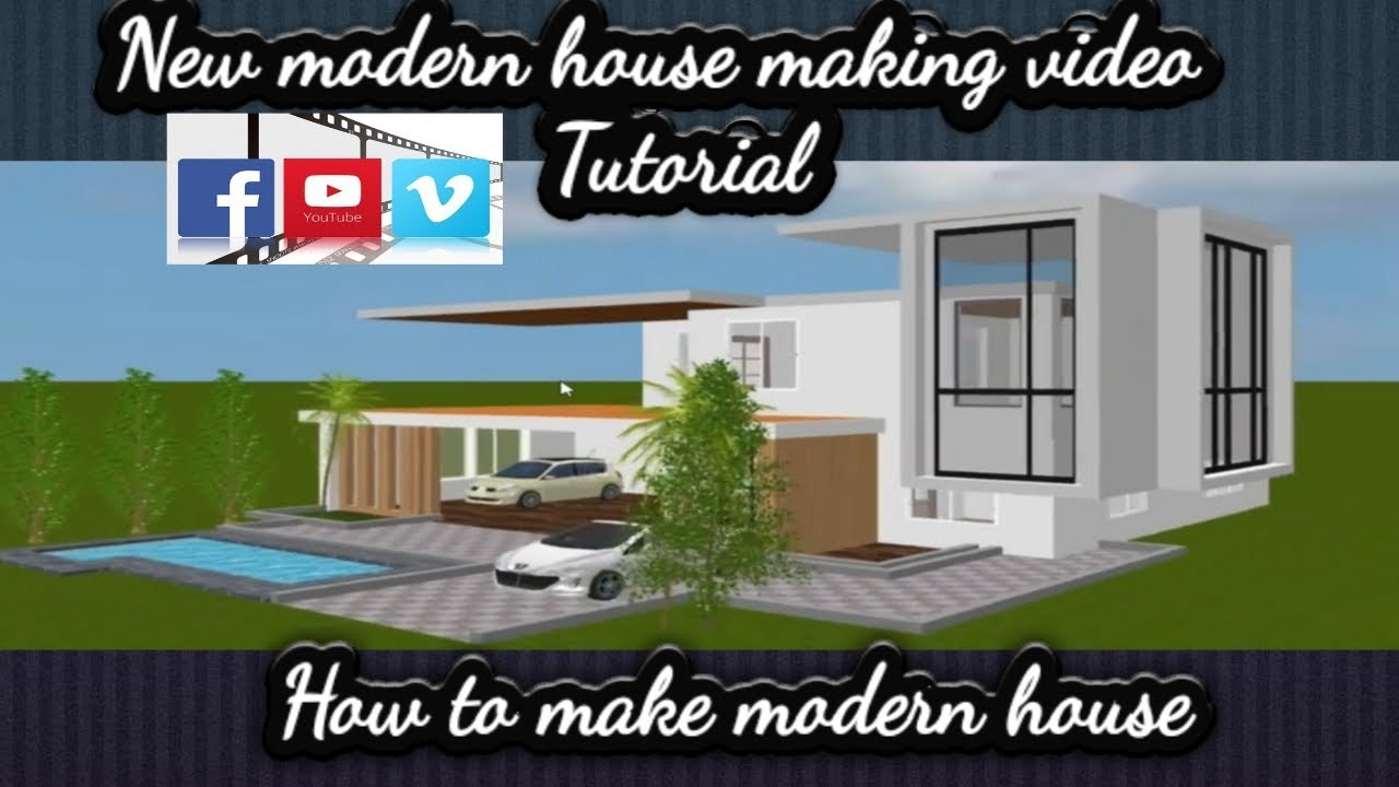 Making another modern house in sweet home 3d
