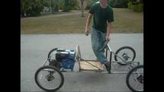 Homemade car - test drive