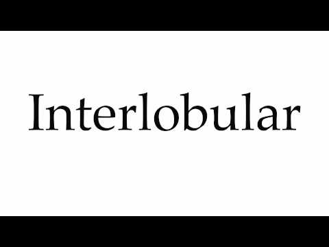 How to Pronounce Interlobular