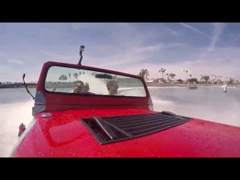 Joey Logano makes a splash in a water car