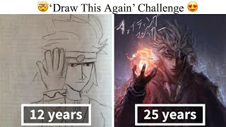 Artists Challenge Themselves To Redraw Their Old 'Crappy' Drawings Prove That Practice Makes Perfect