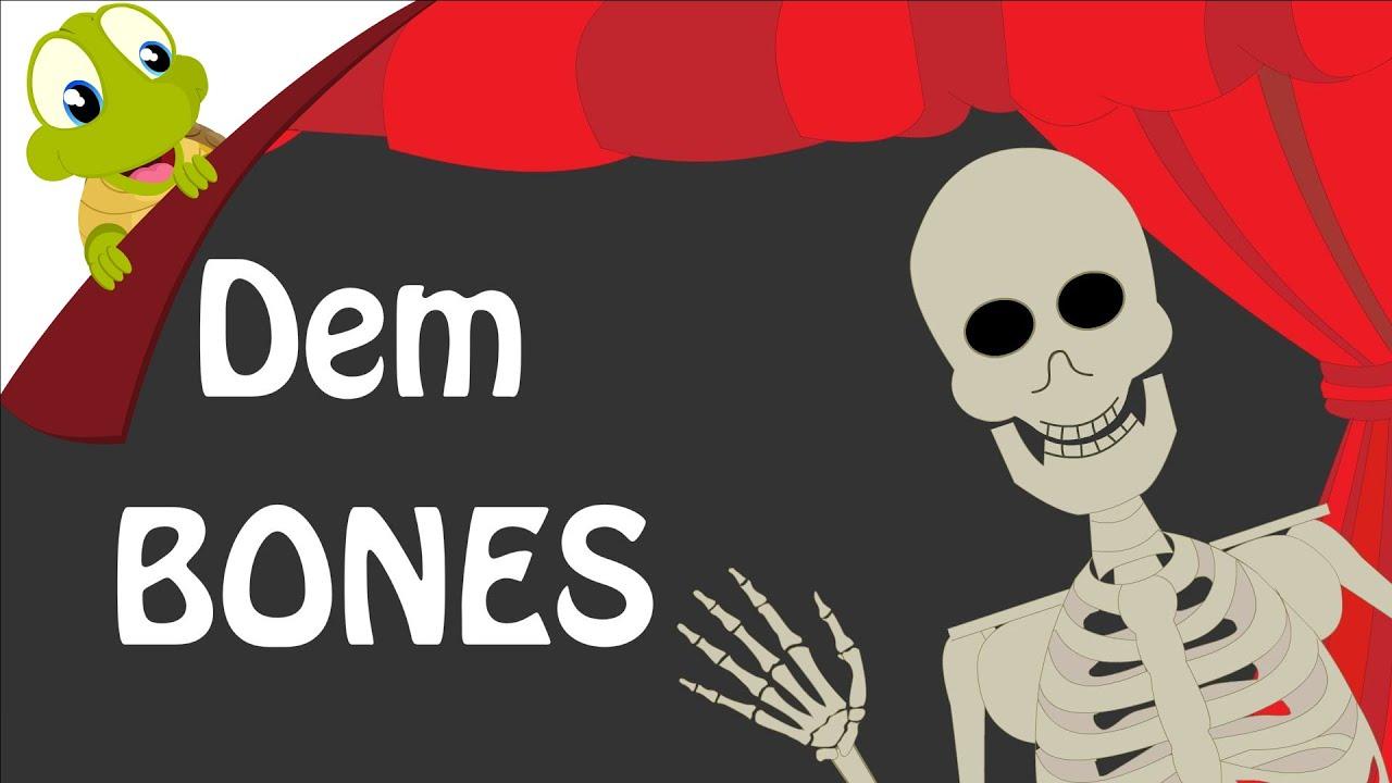 Dem Bones Skeleton Dance Dry Dancing Bones | Popular Nursery Rhyme