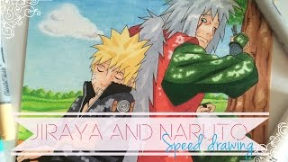Speed Drawing - Jiraya and Naruto with Copics