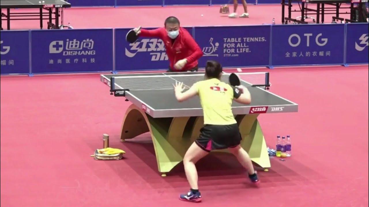 Download Mima Ito vs Ma Lin   Serve Challenge   2020 Women's World Cup