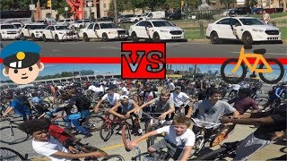 thousand bikes vs 20 philly cop cars