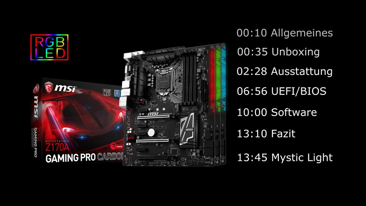 Msi Z270 Gaming Pro Carbon Hd Wallpaper: MSI Z170A GAMING PRO CARBON Review