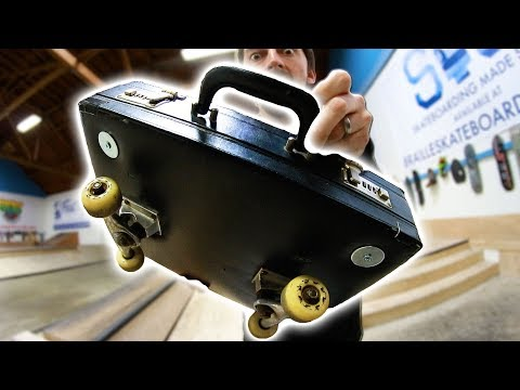 40 YEAR OLD BRIEFCASE SKATEBOARD | YOU MAKE IT WE SKATE IT Ep 186