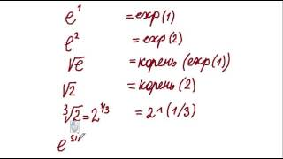 запись и вычисление математических выражений в Excel и Calc