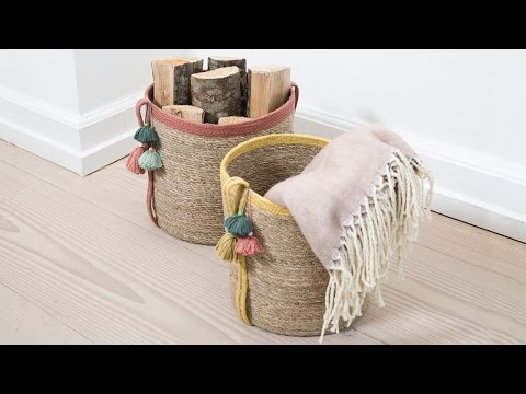 DIY: Decoration of baskets by Søstrene Grene