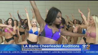 Dancers Audition For LA Rams Cheerleading Team