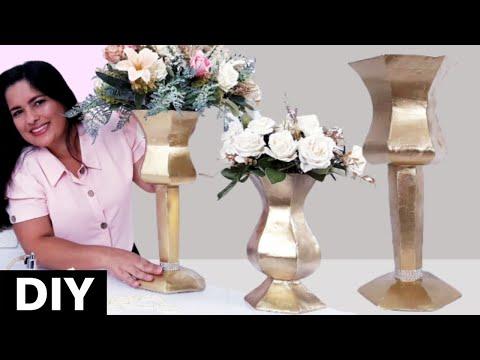 Diy vasos decorativos - How to make vase - DIY ROOM  DECOR