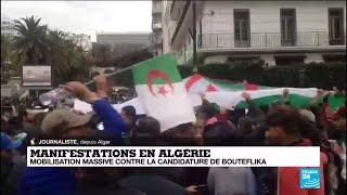 Manifestations en Algérie : mobilisation massive, quelques tirs de gaz lacrymogènes