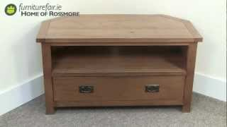 Denver Dark Oak Corner TV Unit