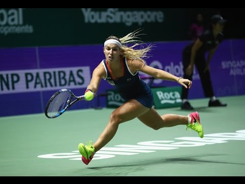 My Performance   Dominika Cibulkova defeats Angelique Kerber   2016 WTA Finals Singapore Final