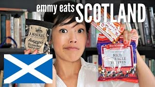 Emmy Eats Scotland - an American tasting Scottish sweets