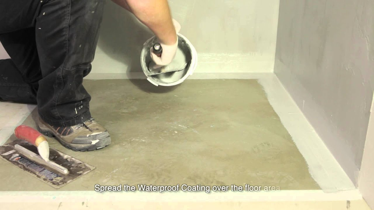 How To Waterproof A Shower Wet Room Or Bathroom Youtube