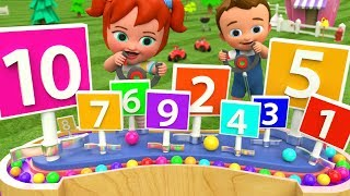 Little Babies Fun Play with Color Balls Toy Set - Learn Numbers for Children Kids ColorBalls Numbers