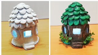 DIY Fairy house with led light using jar