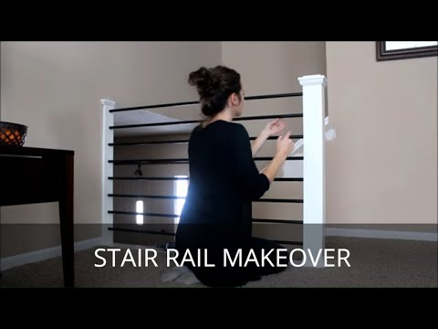 DIY Stair Railing Makeover Baluster And Newel Post Revamp
