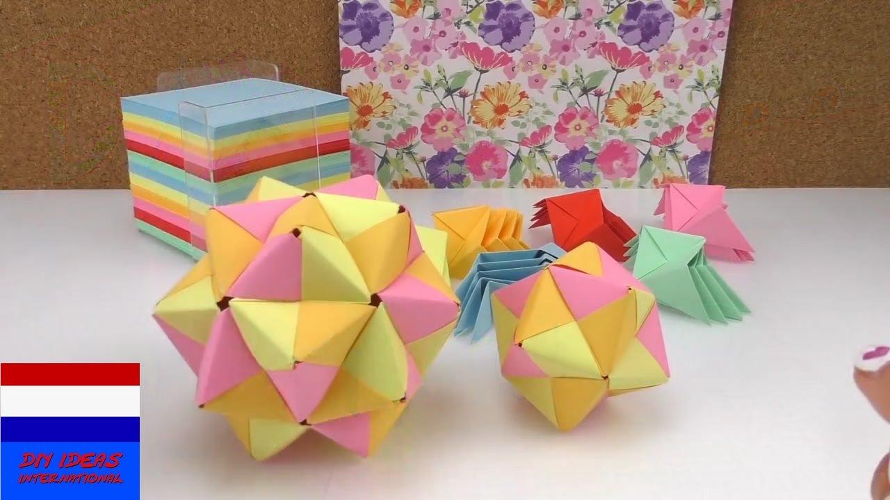 Zeer origamister / stap-voor-stap origamihandleiding / 3D-ster van  @PQ24