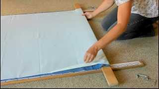 Attaching The Quilt To The Frame-part 3 Of 3