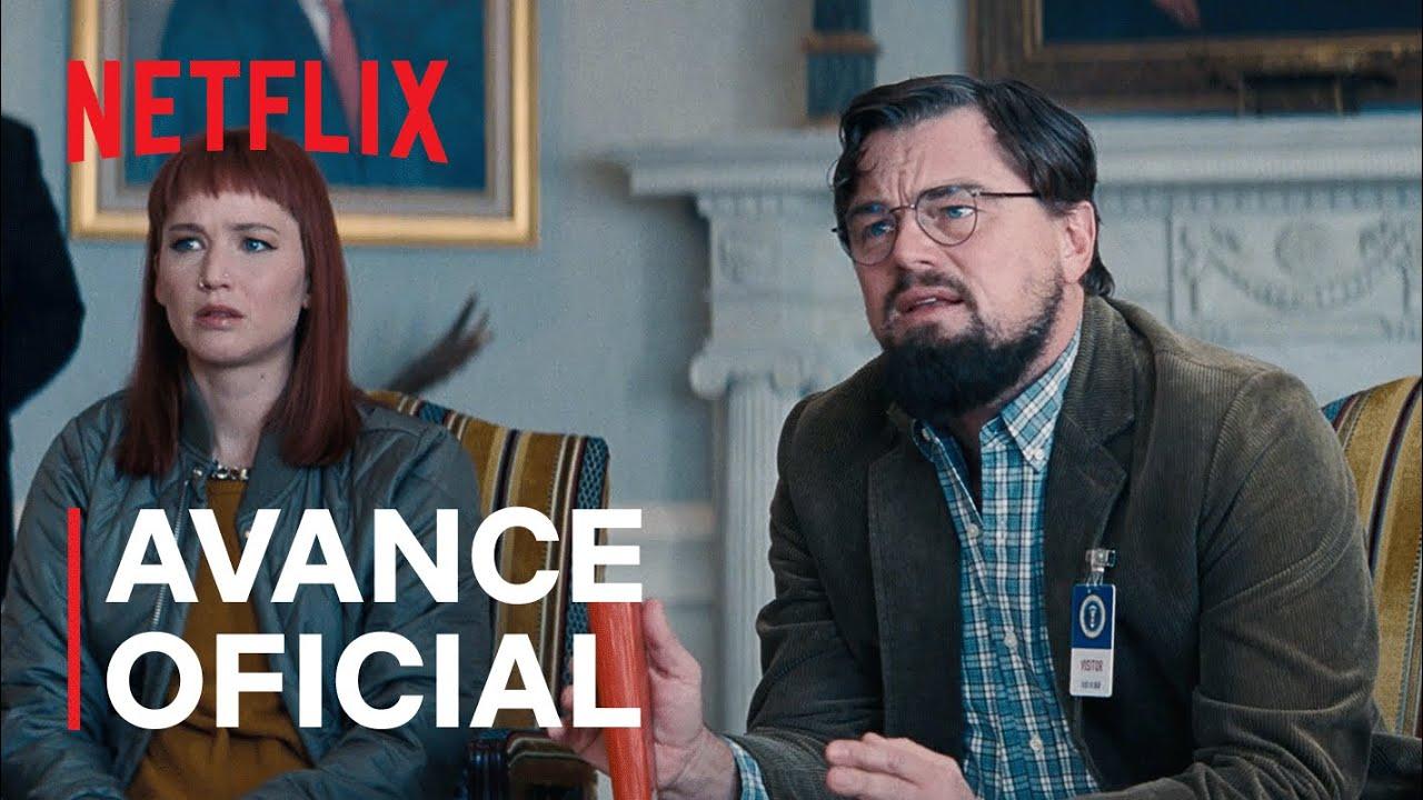 """Primer trailer de la película """"No Miren Arriba"""" con Leonardo DiCaprio y Jennifer Lawrence"""