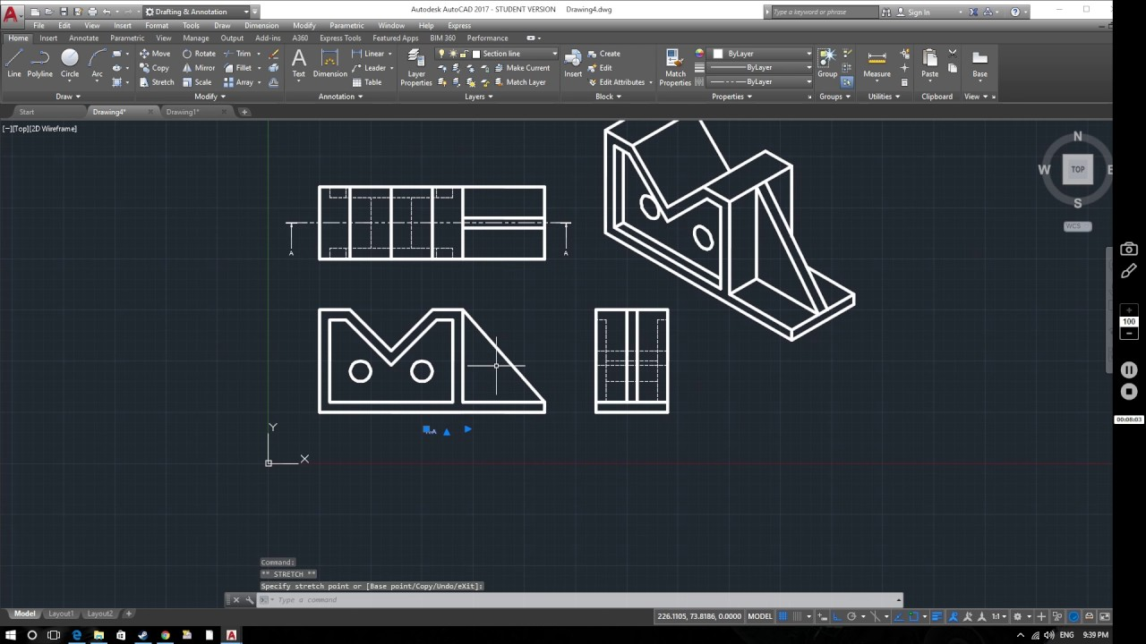 AutoCAD 2017 Tutorial: Section Views - YouTube