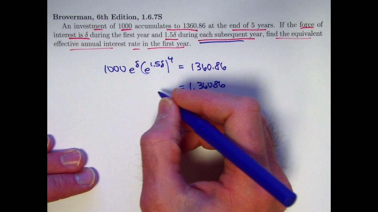 actuarial exam 2  fm prep  effective annual interest rate