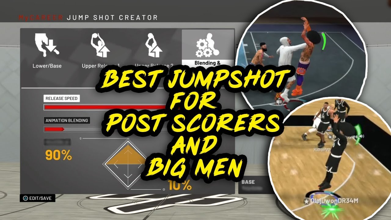 NBA 2K19 Best Jumpshot For Shot Creating Post Scorers and All Big Man  Archetypes!