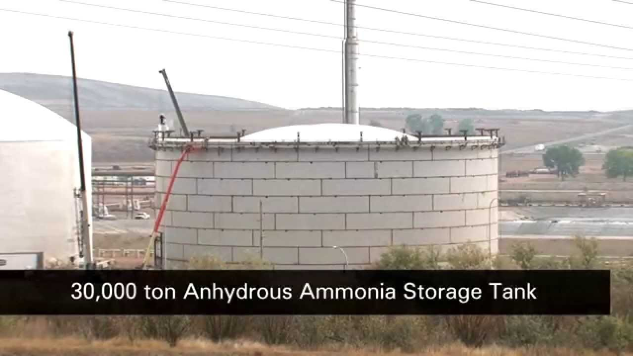 Anhydrous Ammonia Tank Roof Raising Video Youtube