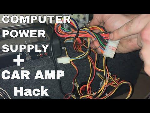 Computer Power Supply Box Running A Car Amplifier