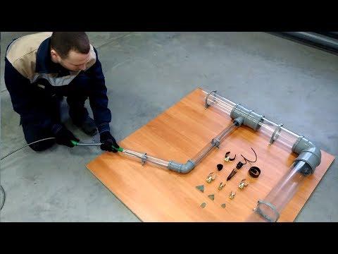 Прочистка канализации диаметром 110мм тросом SPEX STU-B