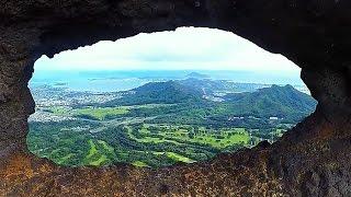 Old Pali Road to Pali Puka Hike, Oahu, Hawaii (GoPro 4 Silver)