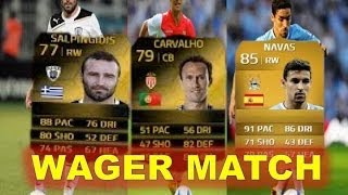 WAGER MATCH - FT. JESUS NAVAS, IF CARVALHO + MORE! - FIFA 14 ULTIMATE TEAM