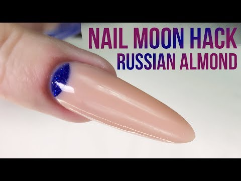Create The Perfect Cuticle Moon In Acrylic Using A Nail Tip - Nail Hack - Russian Almond