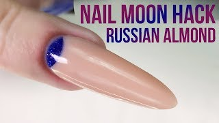 Download Create the Perfect Cuticle Moon in Acrylic using a Nail Tip - Nail Hack - Russian Almond Mp3 and Videos