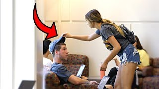 Stealing Guys Hats Prank!!