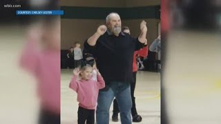 Something to cheer you up: Grandpa dances with granddaughter at school