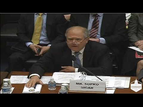 SIGAR John F. Sopko testimony before the House Committee on Oversight and Government Reform