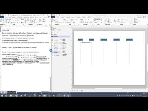 sequence diagram visio stencil aircraft wiring 2013 stencils great installation of draw a simple in youtube rh com