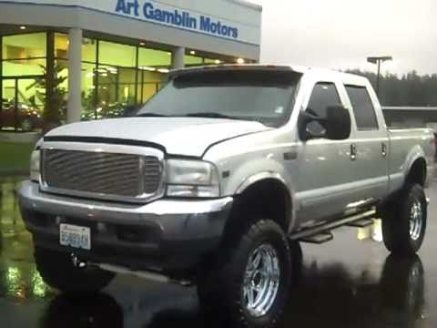 SOLD-2001 Ford F-250 Crew Cab XLT Lifted 4X4 Silver Art ...