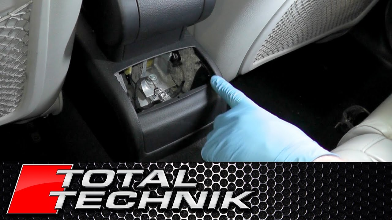 How To Remove Centre Console Rear Lower Panel Trim Audi