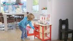 """Детска дървена кухня """"Бон апети"""" от New Classic Toys"""