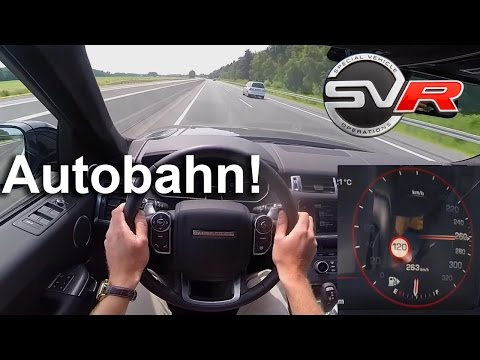 Range Rover Sport SVR FAST! Autobahn Test Drive POV - Acceleration & Top Speed