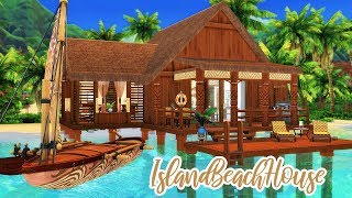 Tropical Beach House ⛵️ || The Sims 4 Island Living: Speed Build