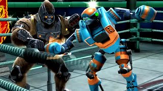 REAL STEEL WRB Brutus VS Axelrod & Cosmobot & Touchdown & Nitro